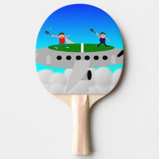 飛行機の卓球のこうもりのテニス ピンポンラケット