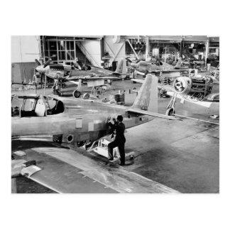 飛行機の工場: 1940年 ポストカード