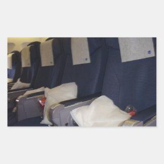 飛行機の座席 長方形シール