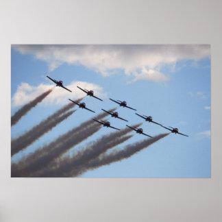 飛行機の形成ポスター ポスター