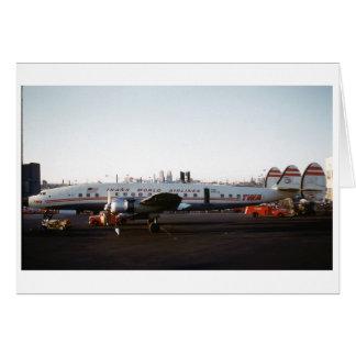 飛行機の挨拶状 カード