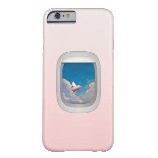 飛行機の窓のiPhone6ケースによる飛んでいるなブタ iPhone 6 ベアリーゼアケース