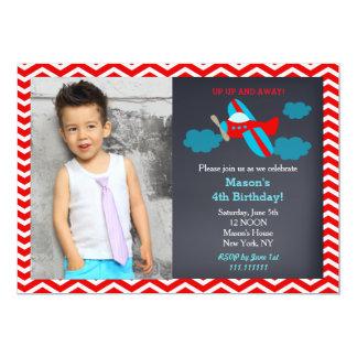 飛行機の誕生日の招待状 カード