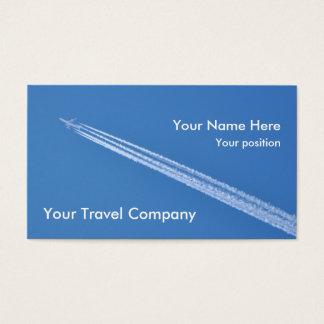 飛行機の飛行機雲の名刺 名刺