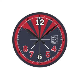 飛行機の高度計のデザイン ラウンド壁時計