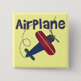 飛行機のTシャツおよびギフト 5.1CM 正方形バッジ