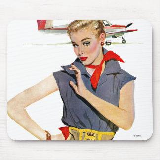 飛行機を盗んだ女の子 マウスパッド