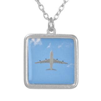 飛行機 シルバープレートネックレス