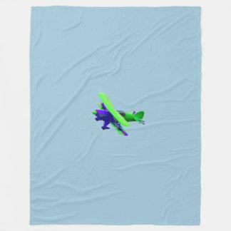 飛行機 フリースブランケット
