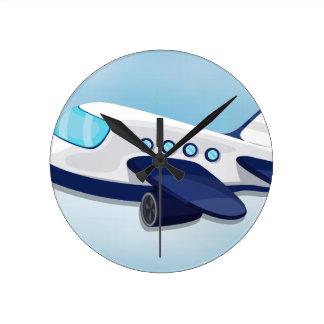飛行機 ラウンド壁時計