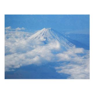 飛行機、写真撮影の郵便はがきからの富士山 ポストカード
