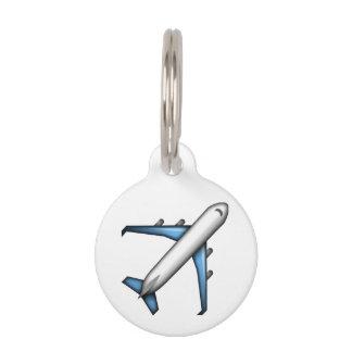 飛行機- Emoji ペット ネームタグ
