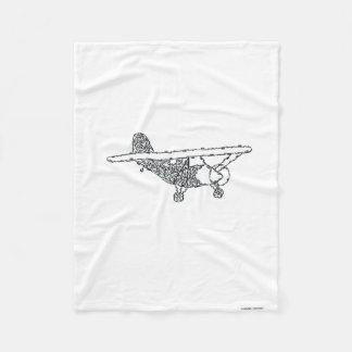 飛行機- MINIFACES フリースブランケット
