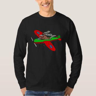"""""""飛行犬""""、飛行機 Tシャツ"""