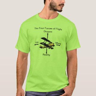 飛行航空ユーモアのワイシャツの4つの力 Tシャツ