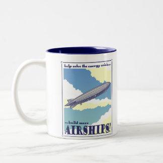 飛行船のマグ ツートーンマグカップ