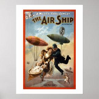 飛行船のヴィンテージの劇場ポスター ポスター