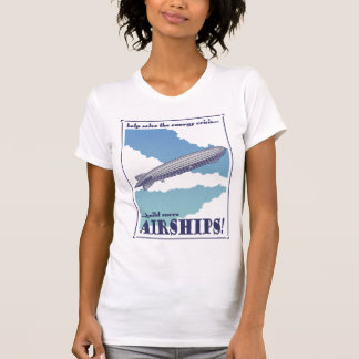 飛行船の女性のTシャツ Tシャツ