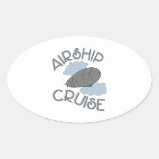 飛行船の巡航 楕円形シール