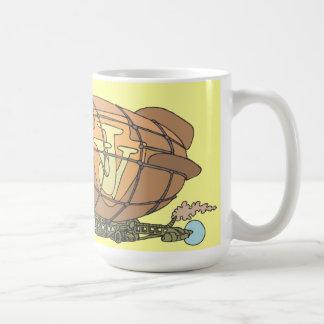 """飛行船""""steampunk""""ジュール・ヴェルヌ コーヒーマグカップ"""