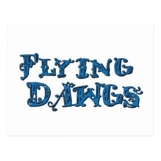 飛行Dawgsによって積み重ねられるロゴの青 ポストカード