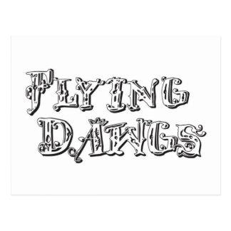 飛行Dawgsのロゴの白 ポストカード