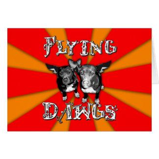 飛行Dawgsの本管のロゴ カード