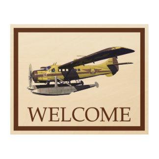 飛行Moose Aviation de Havilland Otter -歓迎 ウッドウォールアート