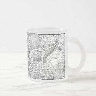 飛行Stegoasaurs フロストグラスマグカップ
