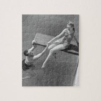 飛込台の女性 ジグソーパズル