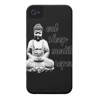 食べて下さい、眠らせて下さい、めい想して下さい、繰り返して下さい Case-Mate iPhone 4 ケース