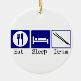 食べて下さい、眠らせて下さい、ドラムをたたいて下さい セラミックオーナメント