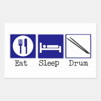 食べて下さい、眠らせて下さい、ドラムをたたいて下さい 長方形シール