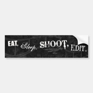 食べて下さい、眠らせて下さい、撃って下さい、編集して下さい バンパーステッカー