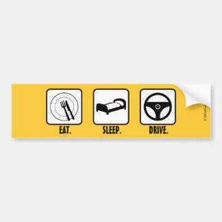 食べて下さい。 睡眠。 ドライブ バンパーステッカー
