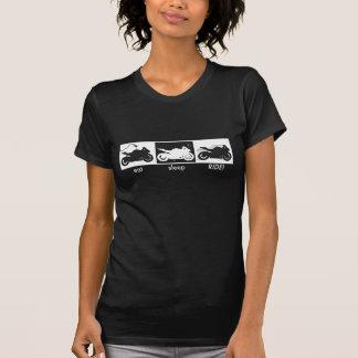 食べて下さい • 睡眠 • 乗車! Tシャツ
