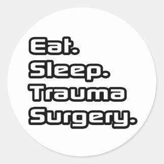 食べて下さい。 睡眠。 外傷の外科 ラウンドシール