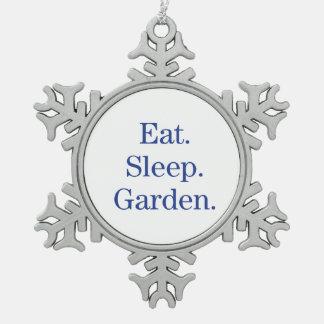 食べて下さい。 睡眠。 庭 スノーフレークピューターオーナメント