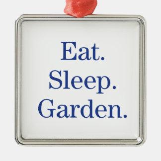食べて下さい。 睡眠。 庭 メタルオーナメント