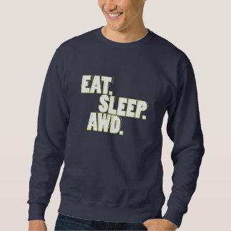 食べて下さい。 睡眠。 AWD。 緑 スウェットシャツ