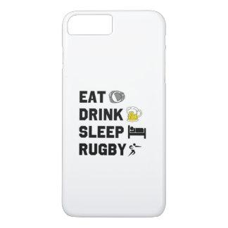 食べて下さい。 飲み物。 睡眠。 Rubgy。 iPhoneの場合 iPhone 8 Plus/7 Plusケース