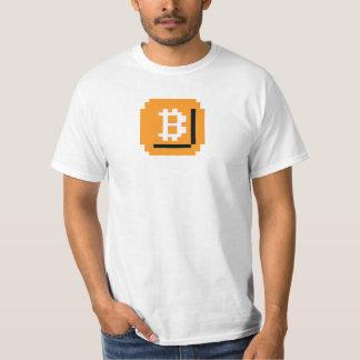 食べましたビットBitcoinのブロック(LQのワイシャツ)を Tシャツ