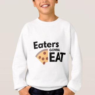 食べることを行っている食べる人 スウェットシャツ
