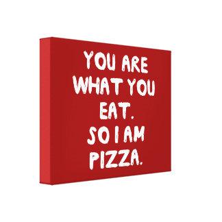 食べるものです。 従って私はピザです キャンバスプリント