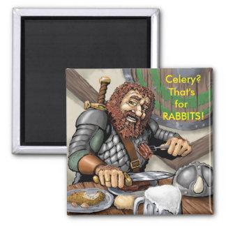 食べ物のアドバイスのファンタジーの小びと マグネット
