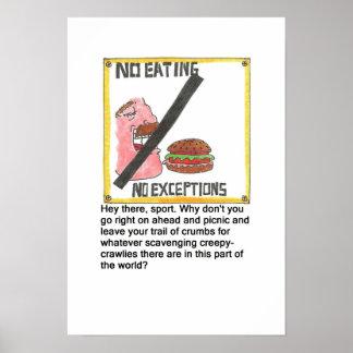 食べ物の印無し ポスター