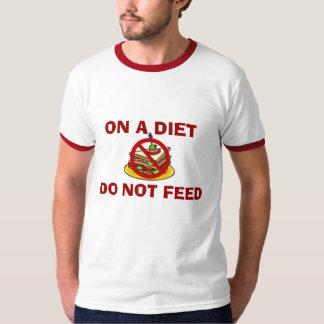 食べ物を与えないで下さい Tシャツ