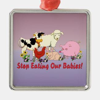食べ物動物の赤ん坊 メタルオーナメント