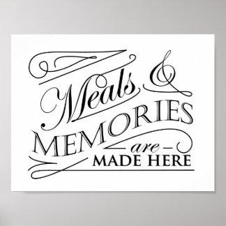 食事および記憶は引用しますデザインをここになされます ポスター