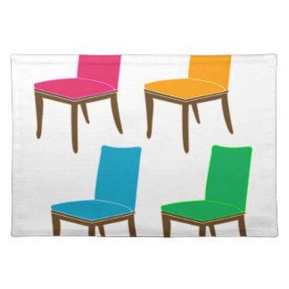 食事の椅子のグラフィック ランチョンマット